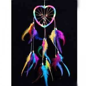 Traumfänger - Herz - Regenbogen - Mehrfarbig
