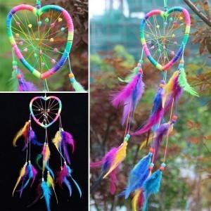Traumfänger - Herz - Regenbogen - Mehrfarbig 4