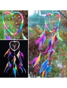 Apanhador de sonhos - Coração - Arco-íris - Multicolor 4