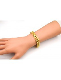 Bracelet Man Stainless Steel Thick Gold Color