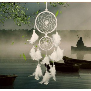 Chytiť Sen - Tradičné - 2 - Kruhy - Biela