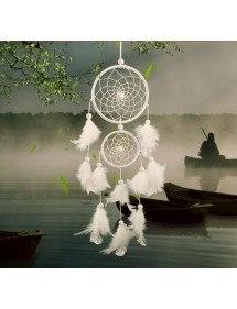 Prinde visul - tradițional - 2 cercuri - alb