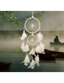 Catch Dream - Traditional - 2 Circles - White