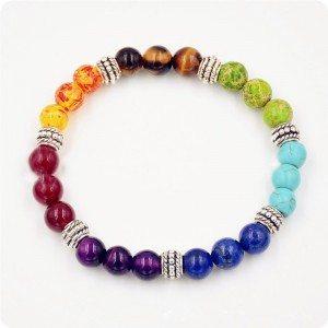 Многоцветна 7 чакра лечебна гривна 2