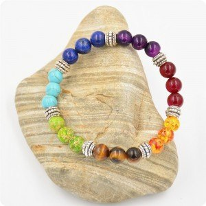 Mångfärgat 7 Chakra Healing Armband 3