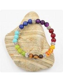 Pulseira de cura de 7 chakras multicolorida 3