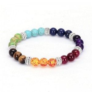 Pulseira De Cura 7 Chakra Multi-Coloreada
