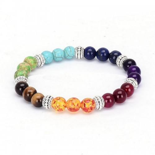Bracciale Guarigione 7 Chakra Multi-Color