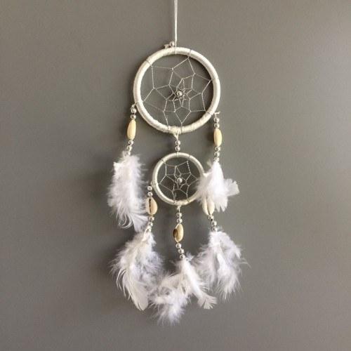 Catch Dream - Traditional - 2 - Circles- V3 - White