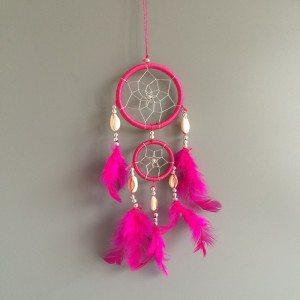 Captura De Sueño - Tradicional - 2 - Círculos - V3 - De Color Rosa Oscuro