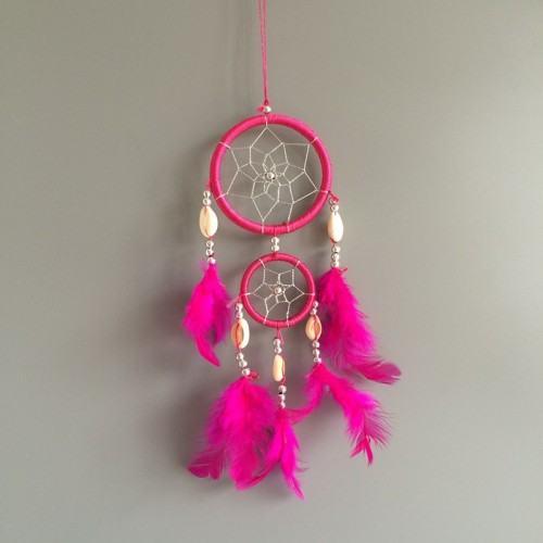 Vangen Droom - Traditionele - 2 - Cirkels - V3 - Donker Roze