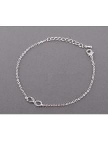 Armband - Infinity - Enkelt - Silver