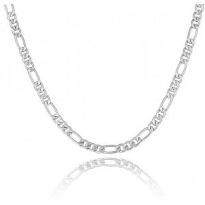Colier pentru bărbați cu lanț fin, de culoare argintie