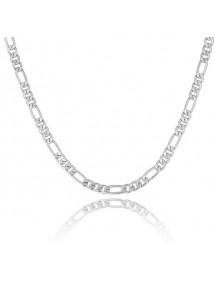 Men's Fine Chain Necklace Silver Color