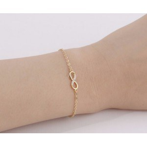 Bracelet - Infini - Simply - Doré 2