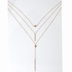 Halskette - Multi Reihen - Y - Gold 2