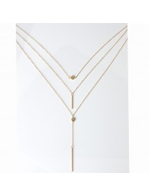 Necklace - Multi-Row - Is - Golden 2