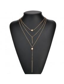 Halskette - Multi Reihen - Y - Gold 4