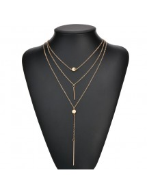 Necklace - Multi-Row - Is - Golden 4