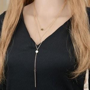 Halskette - Multi Reihen - Y - Gold 5