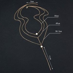 Halskette - Multi Reihen - Y - Gold