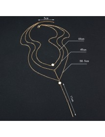 Halskæde - Multi-Rækken - Y - Sølv-4