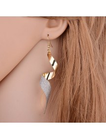 Earrings Premium - Twisted - Spiral - Golden