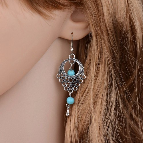 Earrings - Bohemian - Silver/Blue