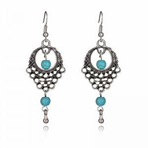Earrings - Bohemian - Silver/Blue 3