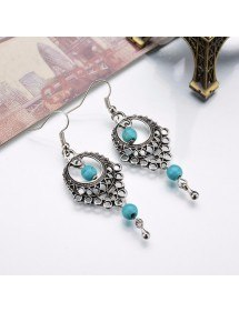 Earrings - Bohemian - Silver/Blue 2