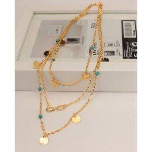 Necklace - Multi-Row - Infinite - Golden 2