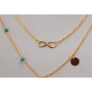 Necklace - Multi-Row - Infinite - Golden 3