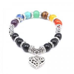 Bracelet - Healing of the 7 Chakras - Heart - Multicolored
