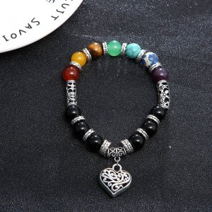 Bracelet - Guérison des 7 Chakras - Coeur - Multicolore 2