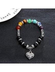Bracelet - Healing of the 7 Chakras - Heart - Multicolor 2