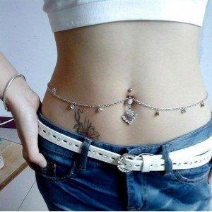 Piercing Bauchnabel - String-Sexy - Chirurgenstahl - Weiss
