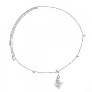 Piercing Bauchnabel - String-Sexy - Chirurgischer Stahl - Weiß 3