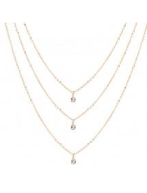 Collar - Multi-Fila - el Oro y los Diamantes de Cristal de Oro 2