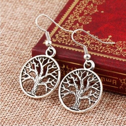 Earrings - Tree Of Life Retro - Silver