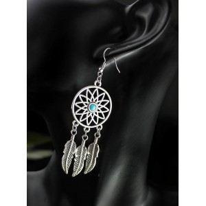 Earrings Catches Dream Argentée_Bleu 2