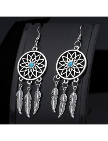 Earrings Catches Dream Argentée_Bleu