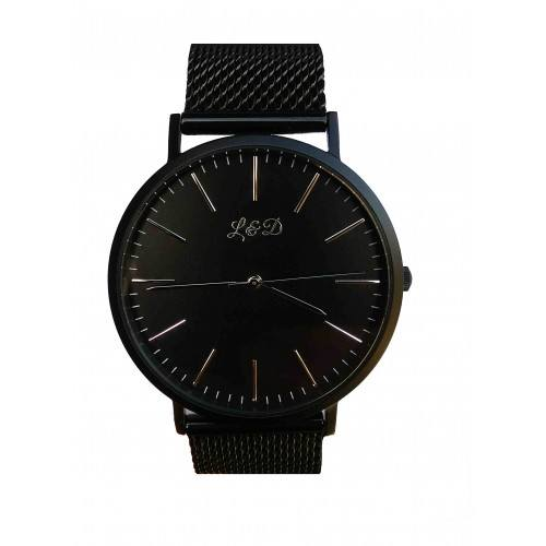 Men's Watch L&D Black Night Edition Mesh Mesh Black