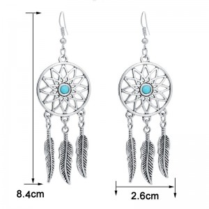 Earrings Catches Dream Argentée_Bleu 3