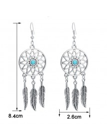 Earrings Catches Dream Argentée_Bleu 3