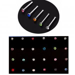 Piercings - Nez - Lot de 24 - Acier Chirurgical - Multicolore
