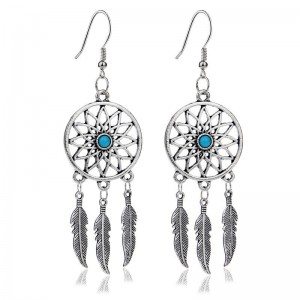 Earrings Catches Dream Argentée_Bleu 5