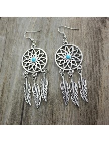 Earrings Catches Dream Argentée_Bleu 4
