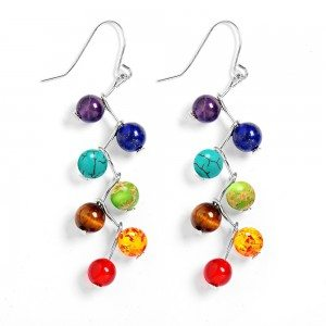 Earrings - Healing 7 Chakras - Multi-Colour