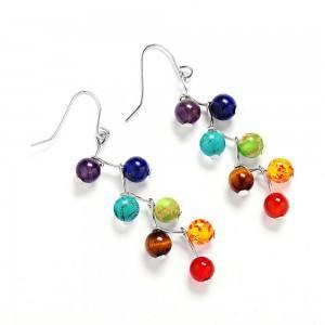 Earrings - Healing 7 Chakras - Multi-Colour