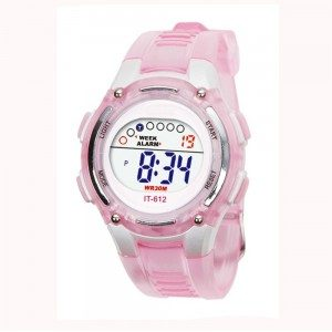 Watch Child Girl - Digital - Waterproof - Pink